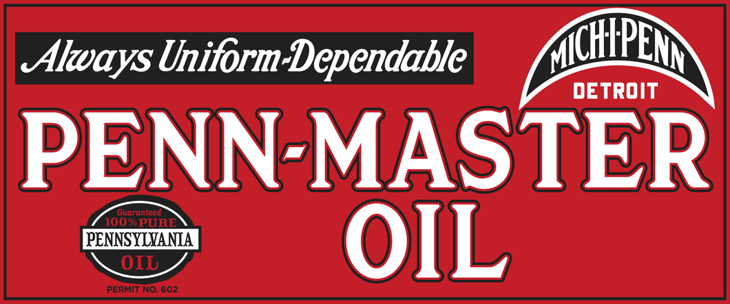 Penn-Master Oil Vintage Sign