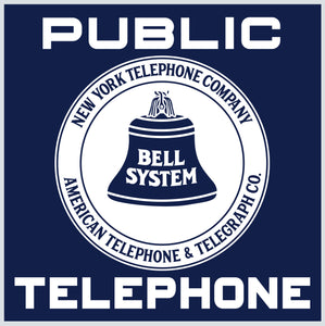 Bell System Public Telephone Vintage Style Sign