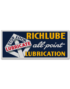 Richlube Vintage Style Sign