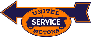 United Service Motors Vintage Style Sign