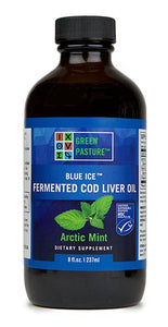 Blue Ice Fermented Cod Liver Oil- Arctic mint- Liquid