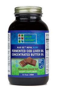 Blue Ice Fermented Cod Liver Oil/High Vitamin Butter Oil Blend- Chocolate Cream Gel