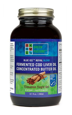 Blue Ice Fermented Cod Liver Oil/High Vitamin Butter Oil Blend- Cinnamon Tingle Gel