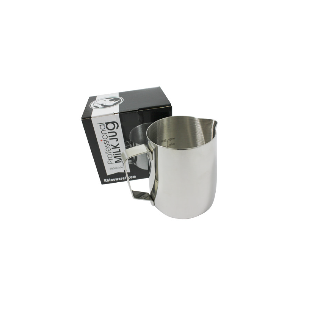 Rhino Classic Milk Pitcher (600ml/20oz) (Stainless Steel)