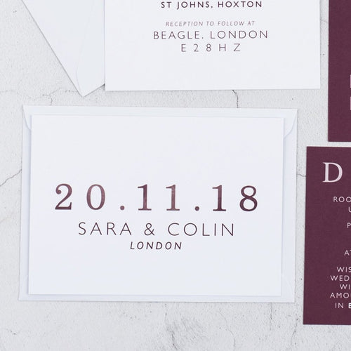 Colin + Sara | Save The Date - The Little Craft Box