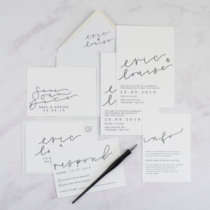 Eric + Louise | Sample - The Little Craft Box