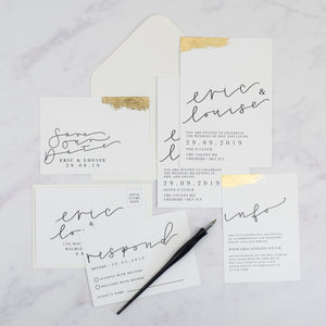 Eric + Louise | Save The Date - The Little Craft Box