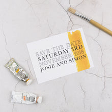 Josie + Simon | Save The Date - The Little Craft Box