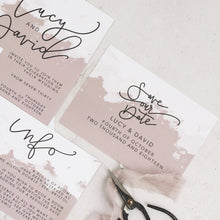 Lucy + David | Save The Date - The Little Craft Box