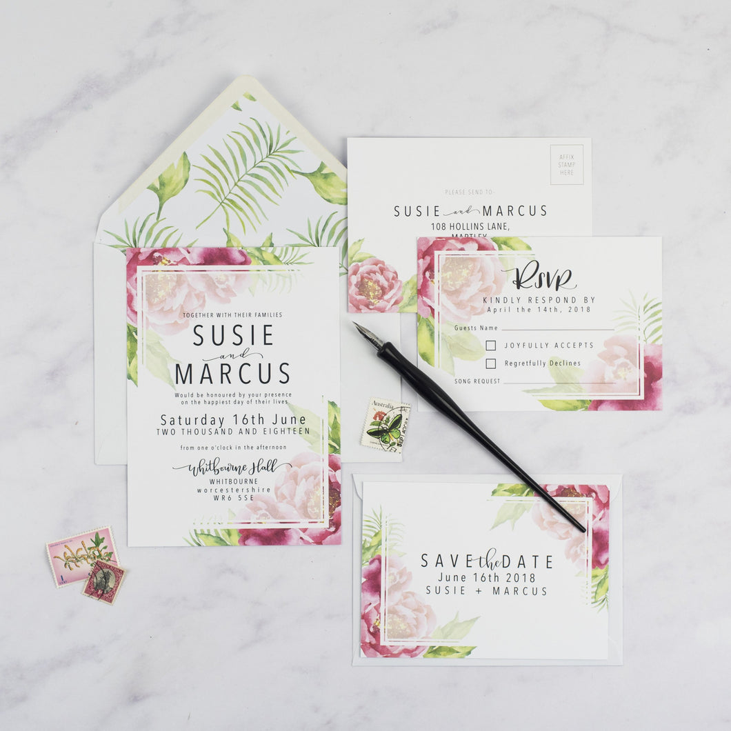 Marcus + Susie | Sample - The Little Craft Box