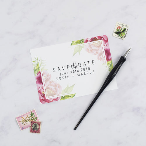 Marcus + Susie | Save The Date - The Little Craft Box