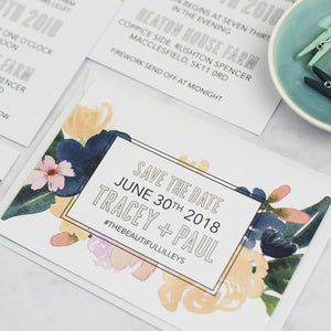 Tracey + Paul | Save The Date - The Little Craft Box