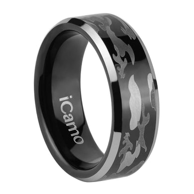 iCamo De Soto Men's Tungsten Camo Wedding Ring