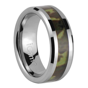 iCamo Klamath Men's Tungsten Camo Wedding Ring