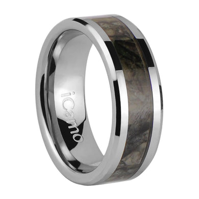iCamo Gallatin Men's Tungsten Camo Wedding Ring