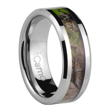 iCamo Coronado Men's Tungsten Camo Wedding Ring