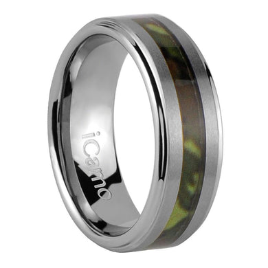 iCamo Cherokee Men's Tungsten Camo Wedding Ring