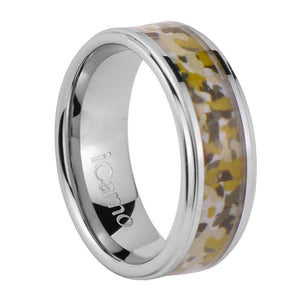 iCamo Coconino Men's Tungsten Camo Wedding Ring