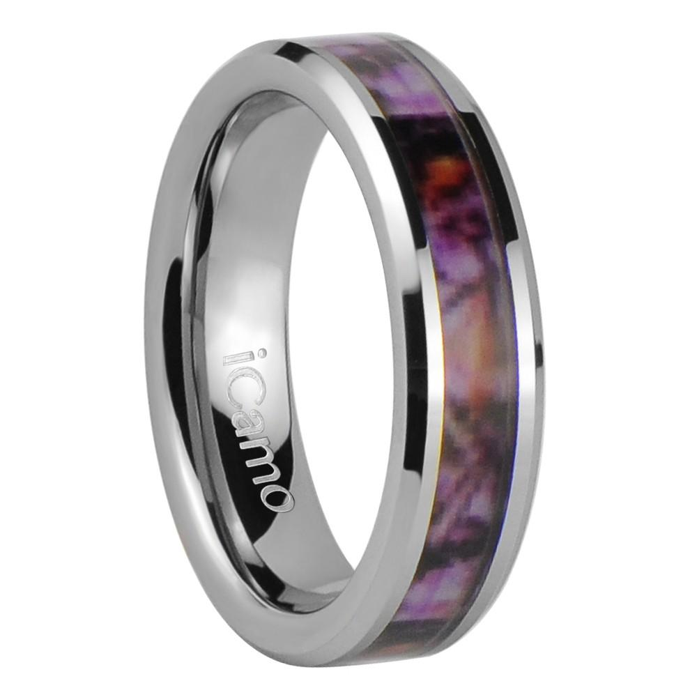 iCamo Angelina Women's Tungsten Camo Wedding Ring