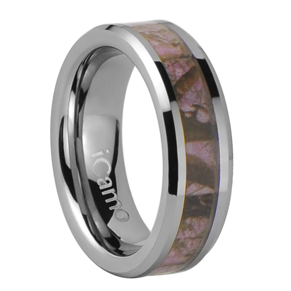 iCamo Lolo Women's Tungsten Camo Wedding Ring