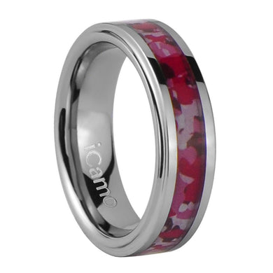 iCamo Nantahala Women's Tungsten Camo Wedding Ring