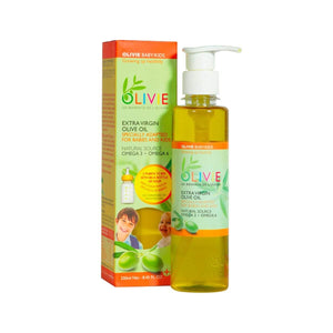 OLIVIE Baby/Kids is an organic extra virgin olive oil for the little ones! Reduces babies colic.
