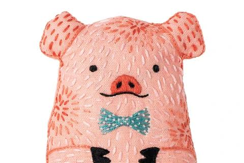 Pig Embroidery Doll Kit