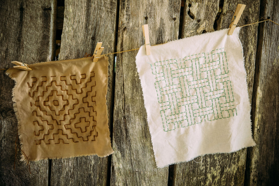 Exploring Geometric Hand-Stitching and Sashiko