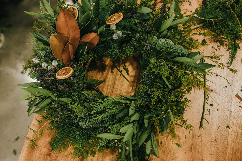 Winter Wreath Making with Meus Floral