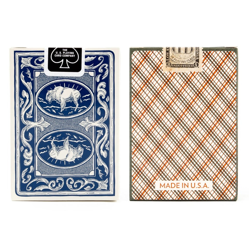Vintage Plaid Sportsman Playing Cards