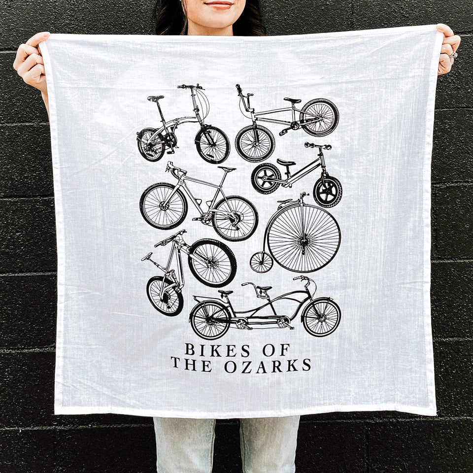 Bikes of the Ozarks Tea towel