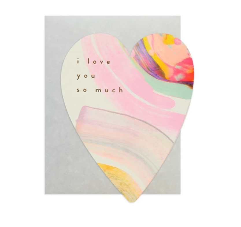 Rainbow Heart card