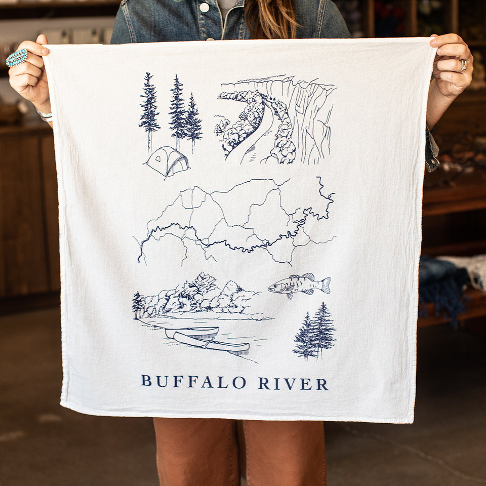 Buffalo River Tea Towel