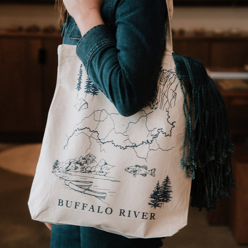 Buffalo River Tote Bag