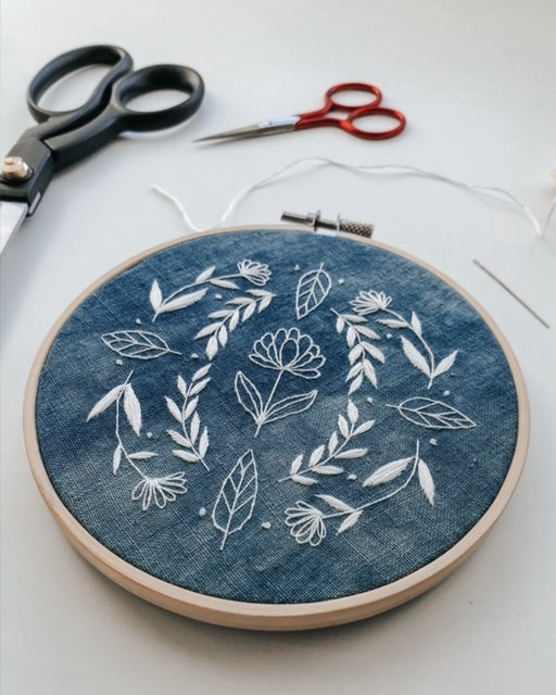 Hillfolk Indigo Folk Embroidery Kit