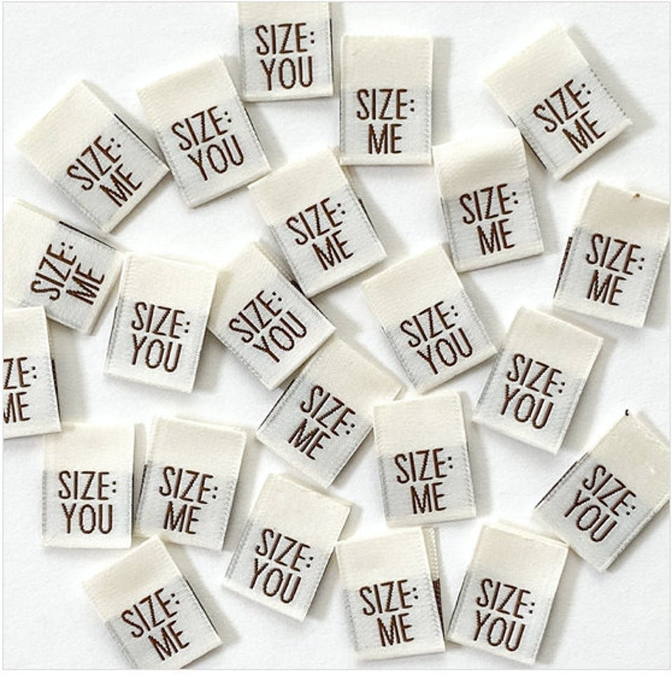 Size Me Size You Woven Label