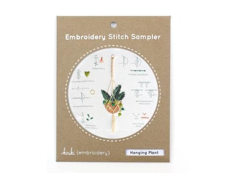 Hanging Plant : Embroidery Stitch Sampler