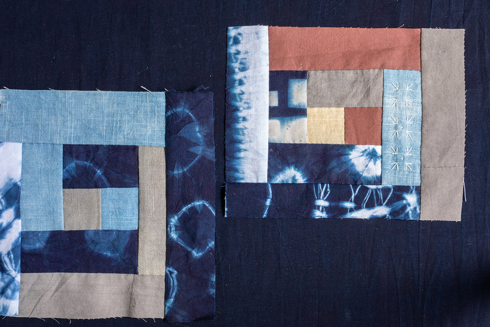 Hand Piecing A Naturally Dyed Quilt
