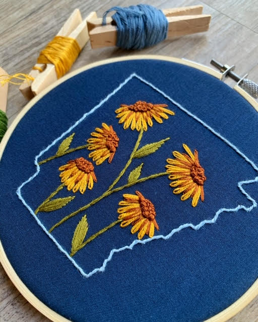 Arkansas Floral Embroidery Workshop