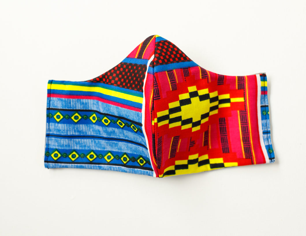 Mezam Blue Kente Mask