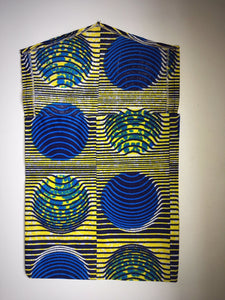 Blue and Yellow - African Print Gift Bag