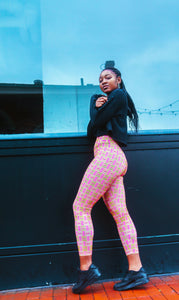 Pink Kente Leggings