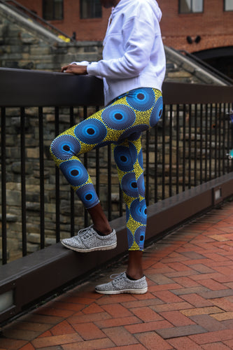 Ankara Blues Leggings