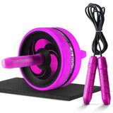 2 in 1 Ab Roller & Jump Rope No Noise Abdominal Wheel Ab Roller