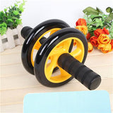 Abdominal Ab Wheel Roller with Mat No Noise Muscle Double-wheeled Abdominal Roller