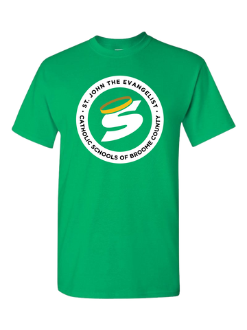 St. John the Evangelist School T-Shirt (Green or Gray)