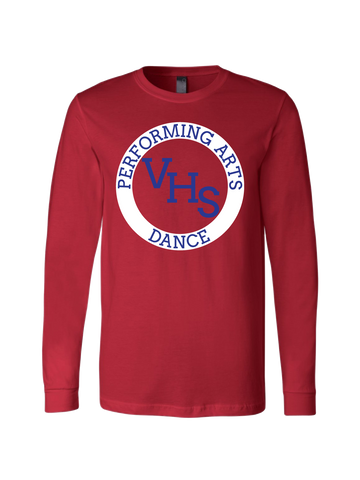 VHS Dance Premium Long Sleeve T-Shirt (Red or White)