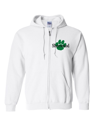 Sherwood Elementary Zip Hoodie (White or Gray)