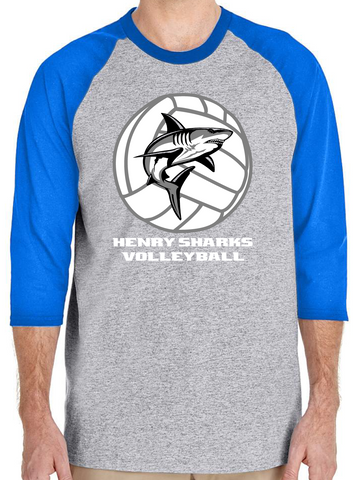 Henry Sharks Volleyball Raglan Tee