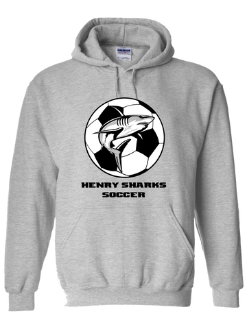 Henry Sharks Soccer Hoodie (Gray or Royal Blue)